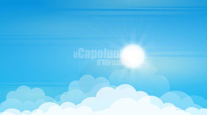 sole nuvoloso nuvole