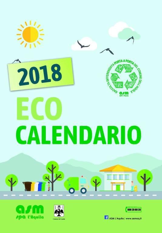Calendario Raccolta Differenziata Rieti.Eco Calendario 2018 Distribuzione Gratuita Il Capoluogo