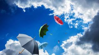 nuvole pioggia ombrello
