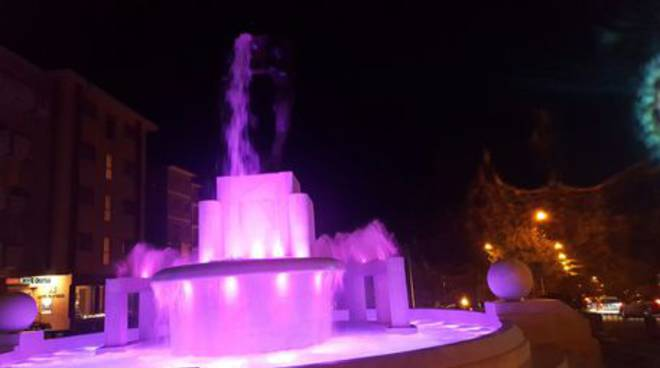 fontana luminosa rosa