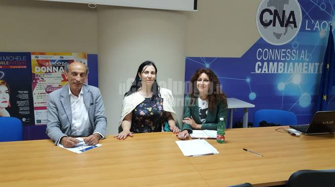 centro di ascolto CNA L'Aquila, Agostino Del Re, Alessandra Lopardi, Enrica Strippoli