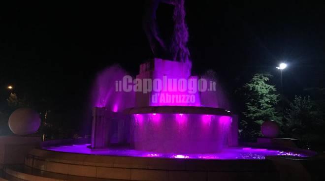 NASTRO VIOLA fontana luminosa