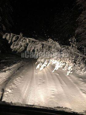 ambulanza bloccata da neve