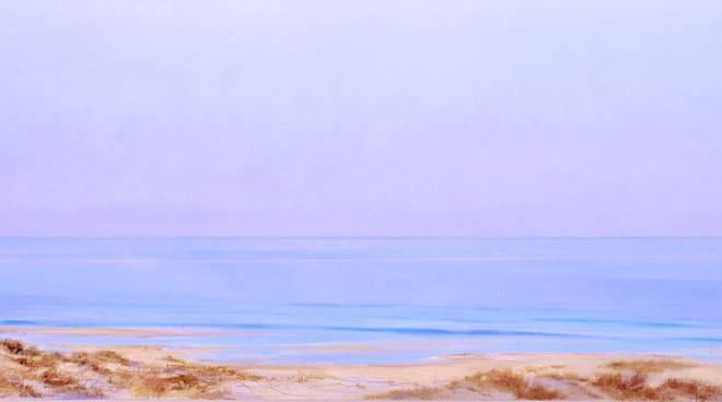 angiolo volpe davanti al mare univaq quadro