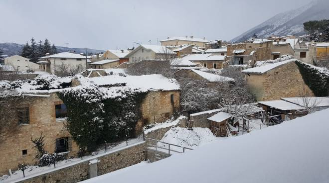 L'Aquila sotto la neve gennaio 2019