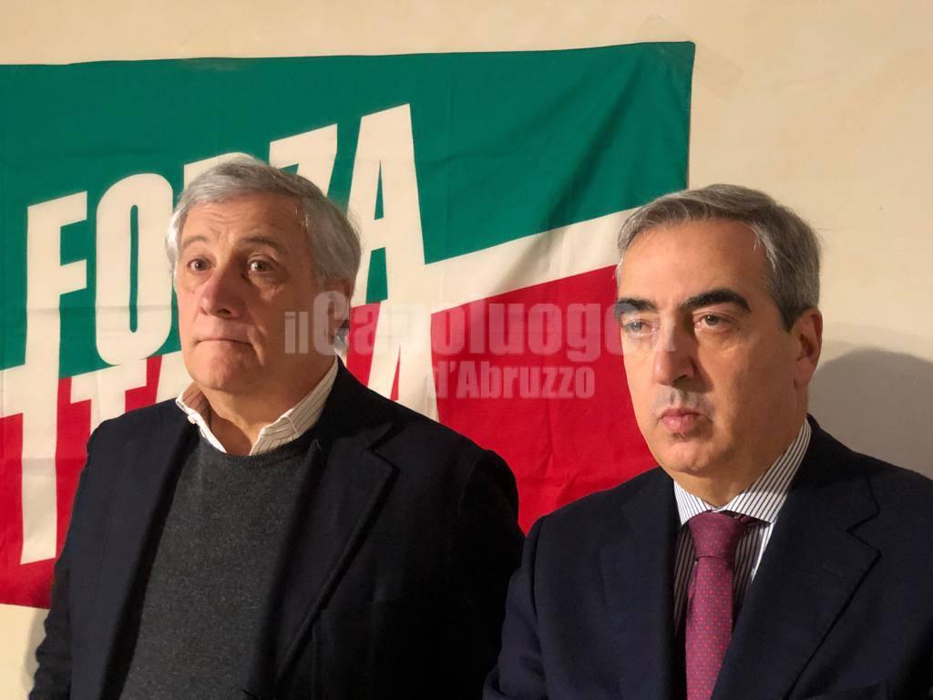 Regionali 2019 Antonio Tajani presenta le le liste di Forza Italia
