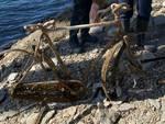 lago campotosto rottami e immondizia