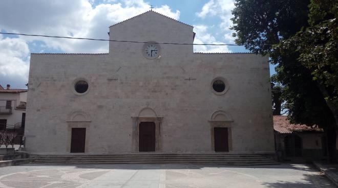 Arischia facciata chiesa restaurata