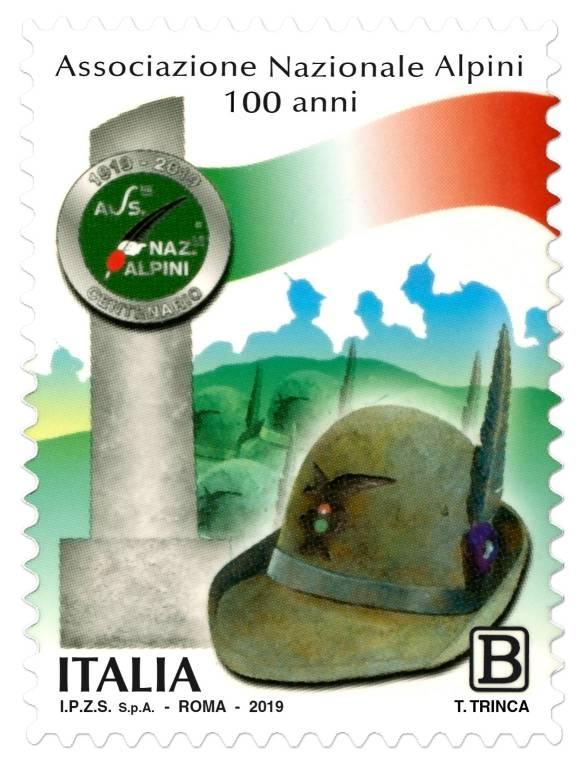 alpini centenario ana francobollo