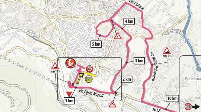 89f7438e85af Il Giro d'Italia arriva a L'Aquila, tutte le strade interessate - Il  Capoluogo