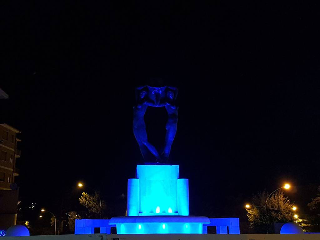 Fontana Luminosa notte