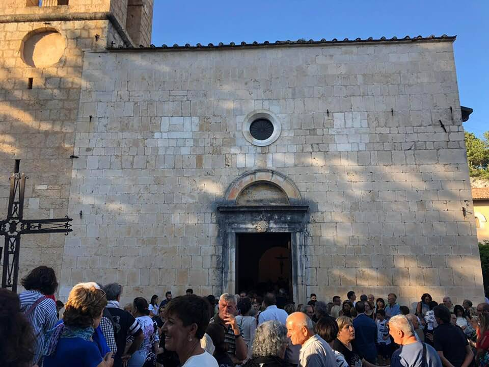 facciata chiesa Pizzoli