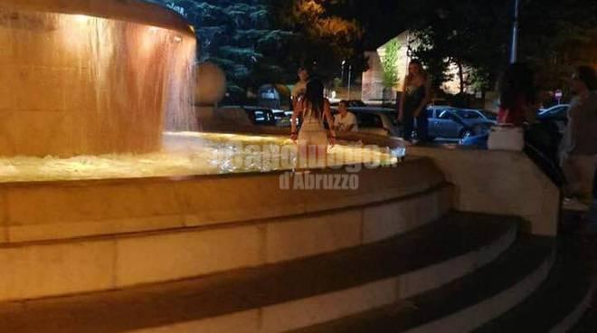 bagno fontana luminosa