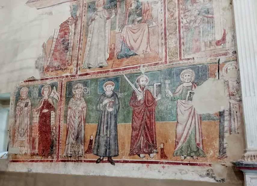 affresco abbazia santa Lucia