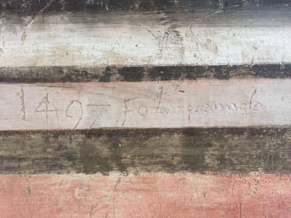 graffiti affreschi san silvestro