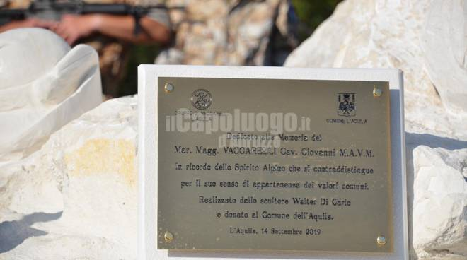 alpini, raduno 2019: inaugurata stata valter di carlo