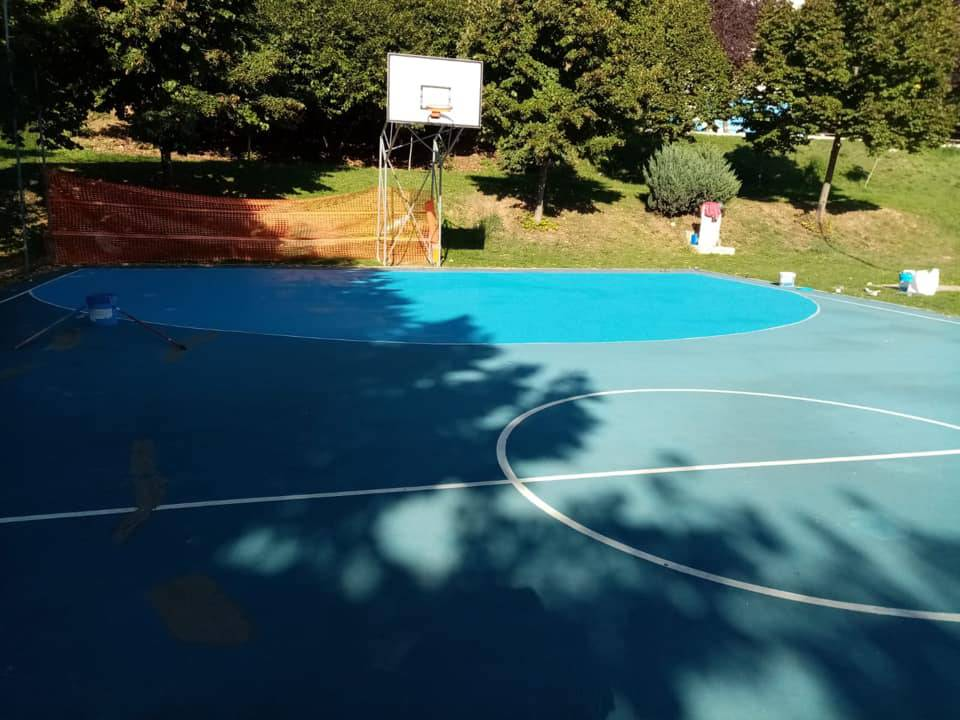 campo da basket parco unicef