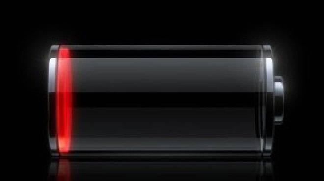 batteria scarica telefono