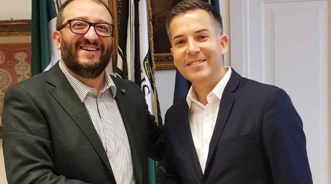 sindaco biondi e Andrea Riposati