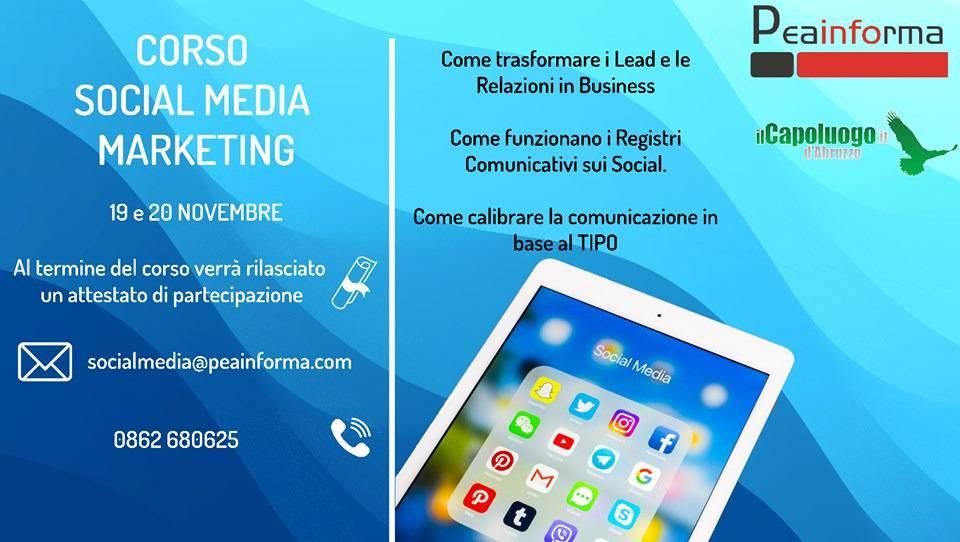 social media marketing corso l'aquila