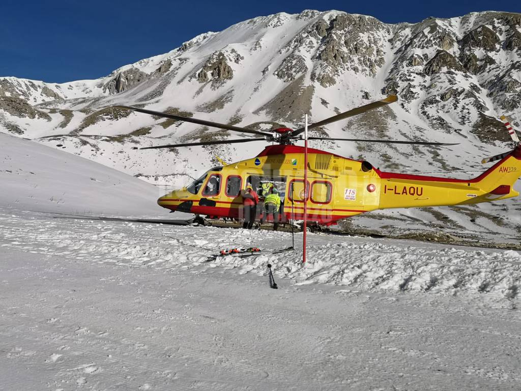 incidente sci campo imperatore
