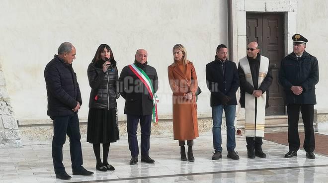 Goriano Sicoli piazza e cerimonia 10 anni post sisma