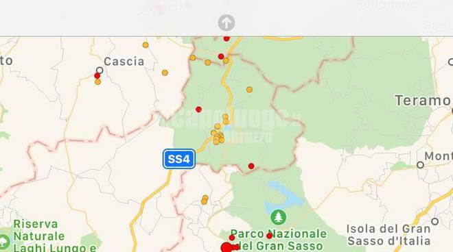 Terremoto alto Aterno 7 dicembre 19