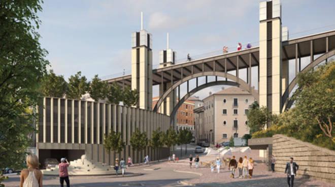 ponte belvedere progetto Marg