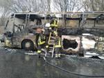 autobus a24 a fuoco