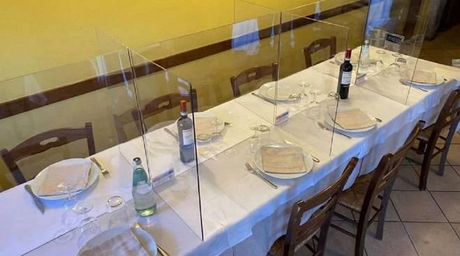 ristorante plexiglass