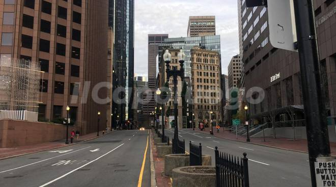 Boston strade vuote coronavirus