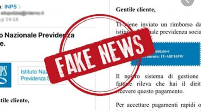 mail fake inps bonus 600 euro