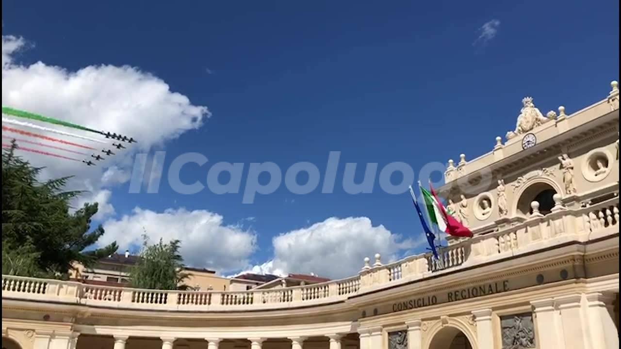 Frecce Tricolori su L'Aquila: che spettacolo