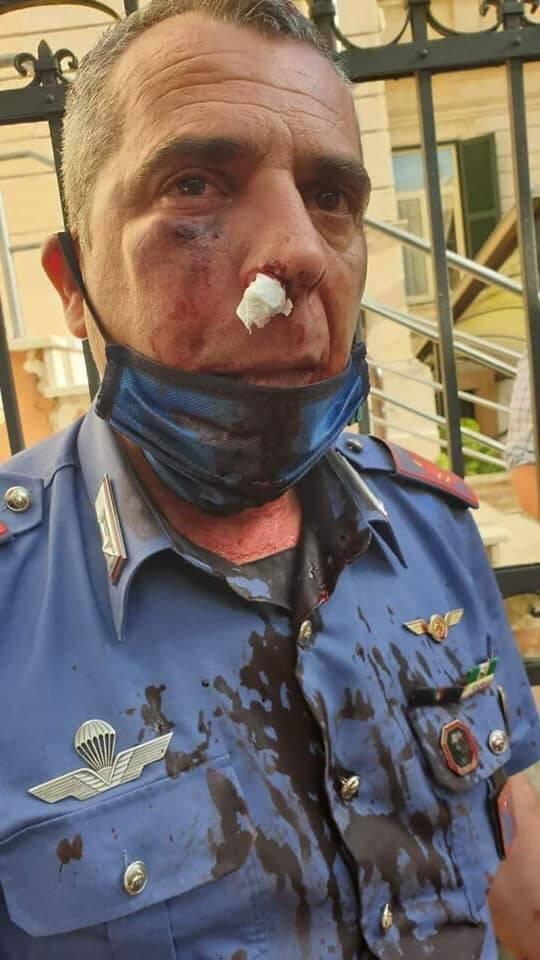carabiniere ferito avezzano vito lamendola