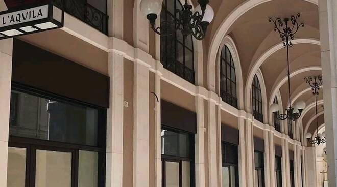 portici ricostruiti l'aquila