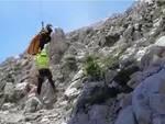 escursionista soccorsa sul corno grande