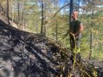 incendio alpini arischia