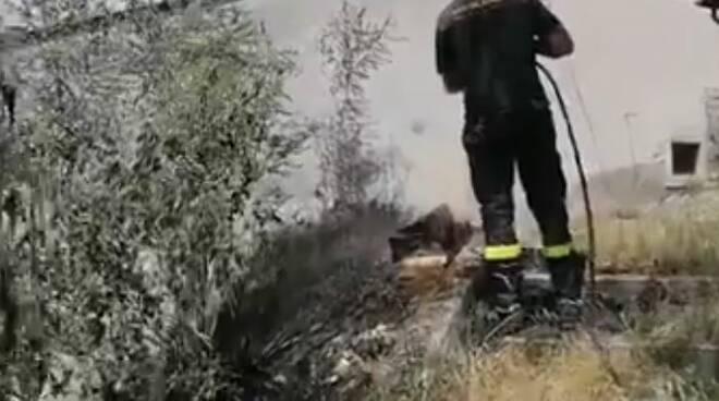 incendio castelvecchio subequo