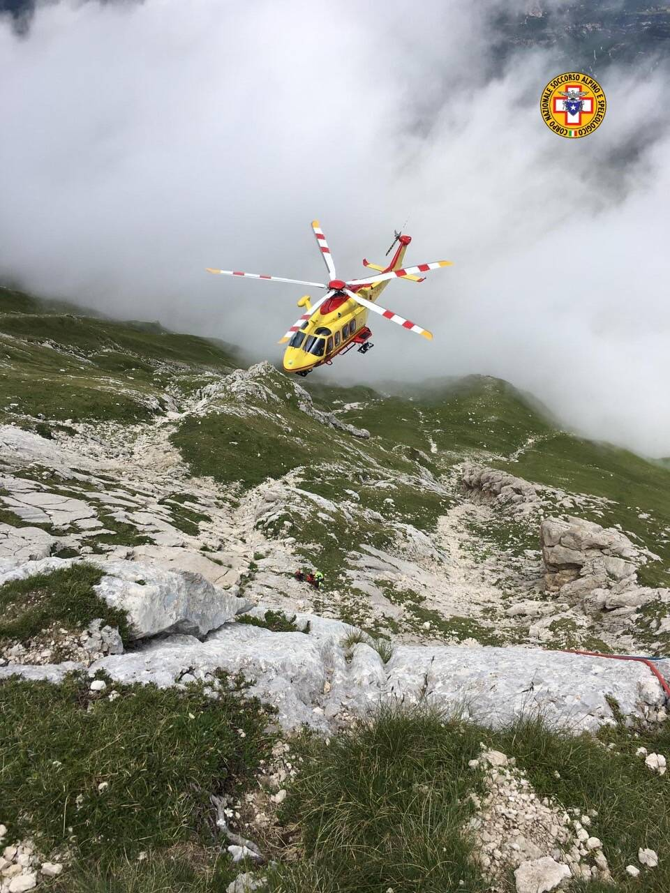 montagna incidenti gran sasso cnsas 118