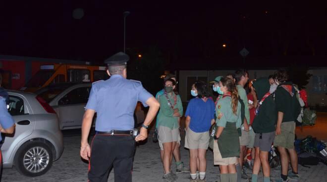gruppo scout soccorso dai carabinieri l'aquila