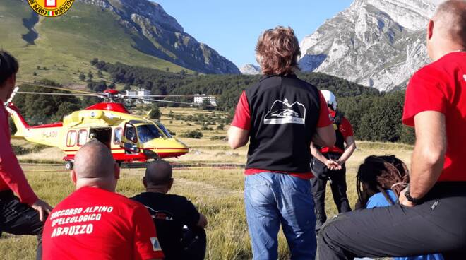 alpinisti soccorsi gran sasso Pietracamela