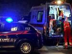 carabinieri e ambulanza notte