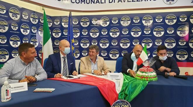 Fratelli D'Italia marsilio ad avezzano per genovesi sindaco