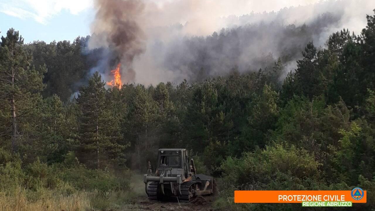 Incendi Arischia cansatessa 2 agosto 2020