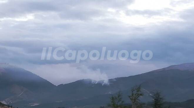 incendio pettino e pizzoli, 5 agosto 2020
