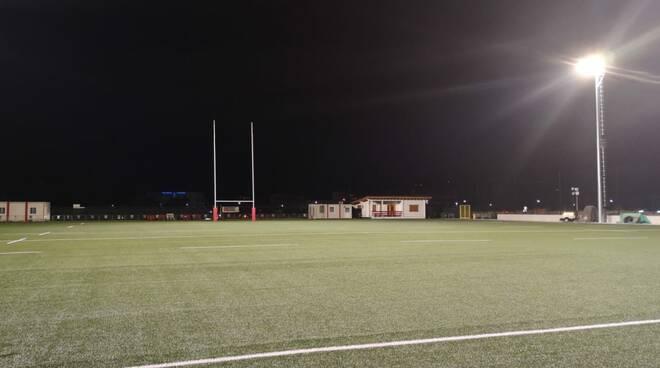 piazza d'armi rugby illuminazione