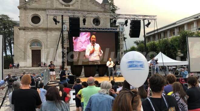 comizio conclusivo centrodestra Avezzano 2020