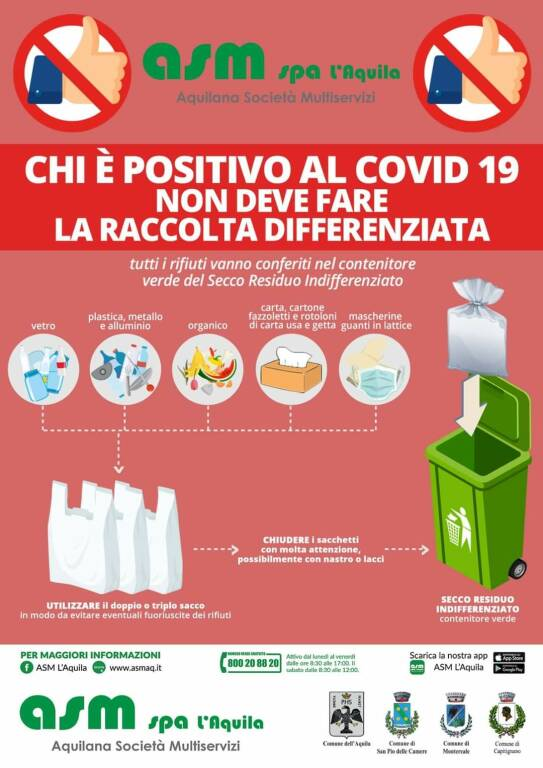 asm differenziata positivi covid 19