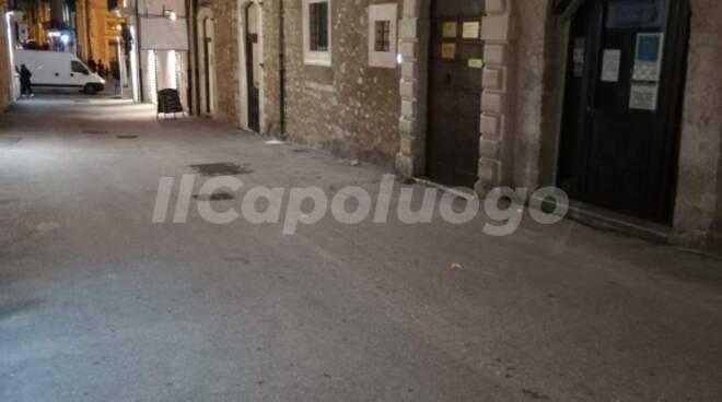 Coprifuoco centro L'Aquila