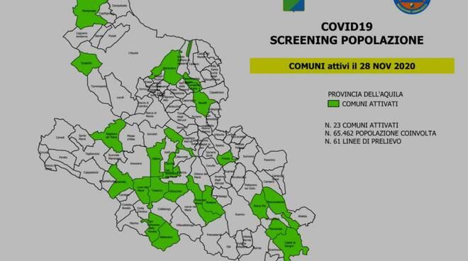 screening abruzzo 28 novembre